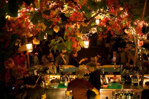 A bar scene in the Monastiraki neighborhood. Eirini Vourloumis