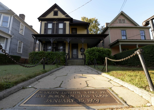 The home where the Rev. Dr. Martin Luther King Jr. was born will be one of the sites linked by the new Atlanta Streetcar. Erik S. Lesser