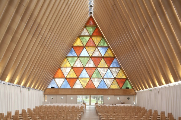 ChristChurch Cathedral, by Japanese architect Shigeru Ban