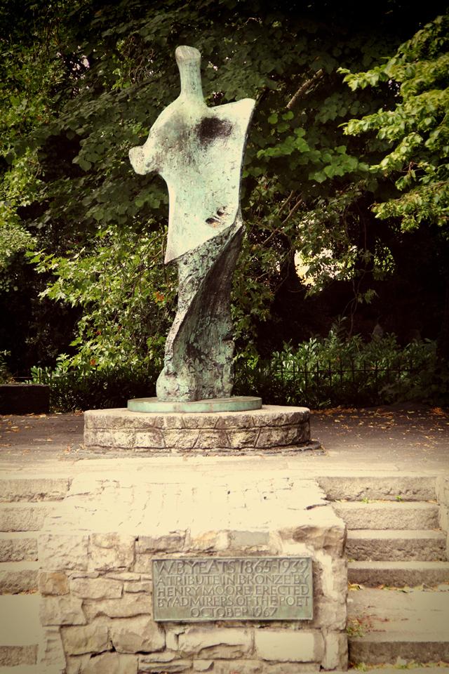 Henry Moore's angular Yeats statue